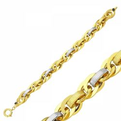 SembolGold - 14 Ayar Altın Bileklik Hallow Özel Tasarım SG42-57499