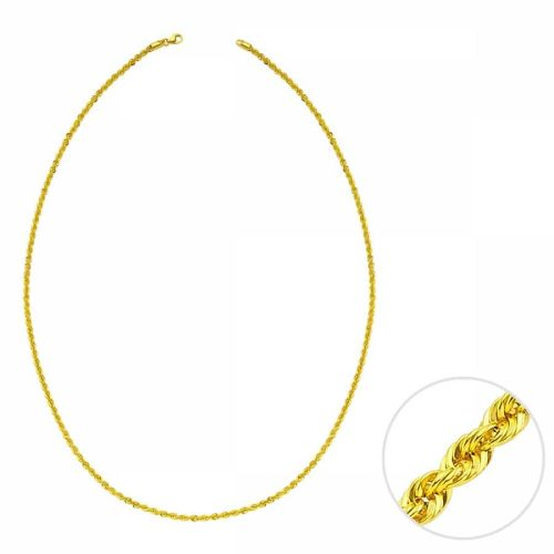SembolGold - 45 Cm Altın Lazer Halat Zincir