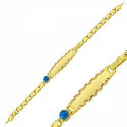 SembolGold - Altın Çocuk Bileklik Lazerle İsim Yazılır SG42-650569
