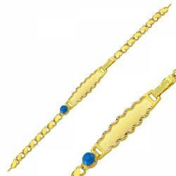 SembolGold - Altın Çocuk Bileklik Lazerle İsim Yazılır SG42-6569