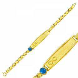 SembolGold - Altın Çocuk Bileklik Lazerle İsim Yazılır SG42-6574