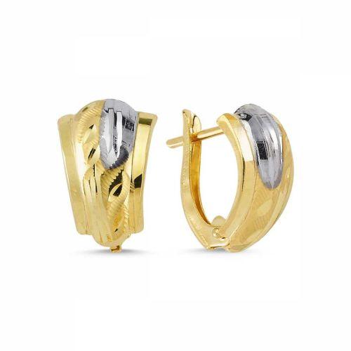 SembolGold - Altın Desenli J Küpe 1.90 Gr SKT42-4705120
