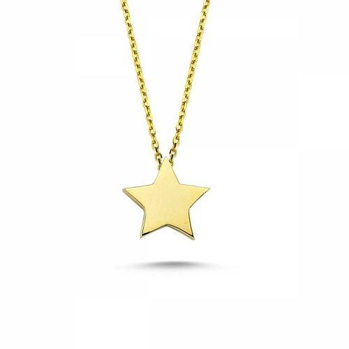 SembolGold - Altın Yıldız Kolye