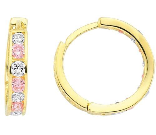 SembolGold - Çocuk Küpesi halka 14K Altın Pembe TF56511