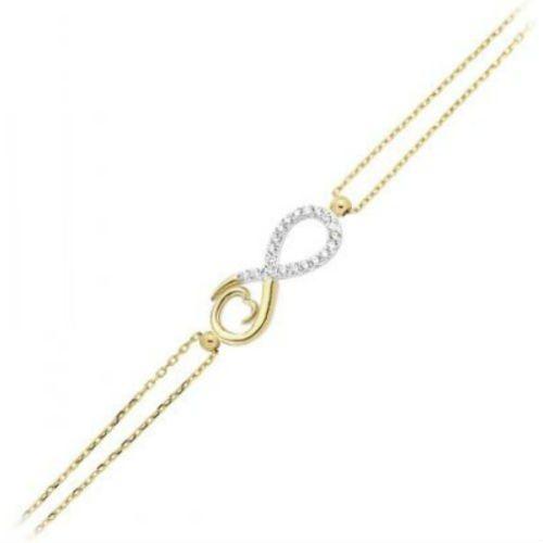 SembolGold - Sonsuz Altın Zincir Bileklik SG42-979