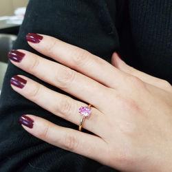 1.34 ct. Pink Topaz Yüzük - Thumbnail