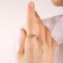 SembolGold - 14 Ayar Altın Düğüm Yüzük Yeni (1)