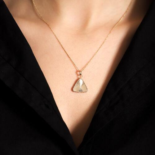 SembolGold - 14 Ayar Altın Kolye Piramit (1)