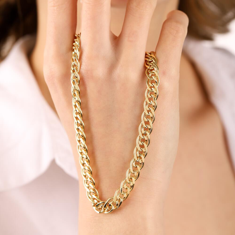 14 Ayar Altın Nonna Zincir 50 cm