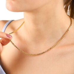 14 Ayar Altın Pullu Zincir 45 Cm - Thumbnail