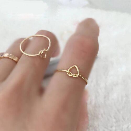 SembolGold - 14 Ayar Düğüm Altın Yüzük Kalp (1)