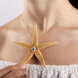 14 Ayar Nazarlık Altın Kolye Mine Yıldız Tasarım - Thumbnail