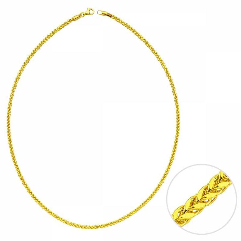 55 Cm Altın Kare Spiga Zincir