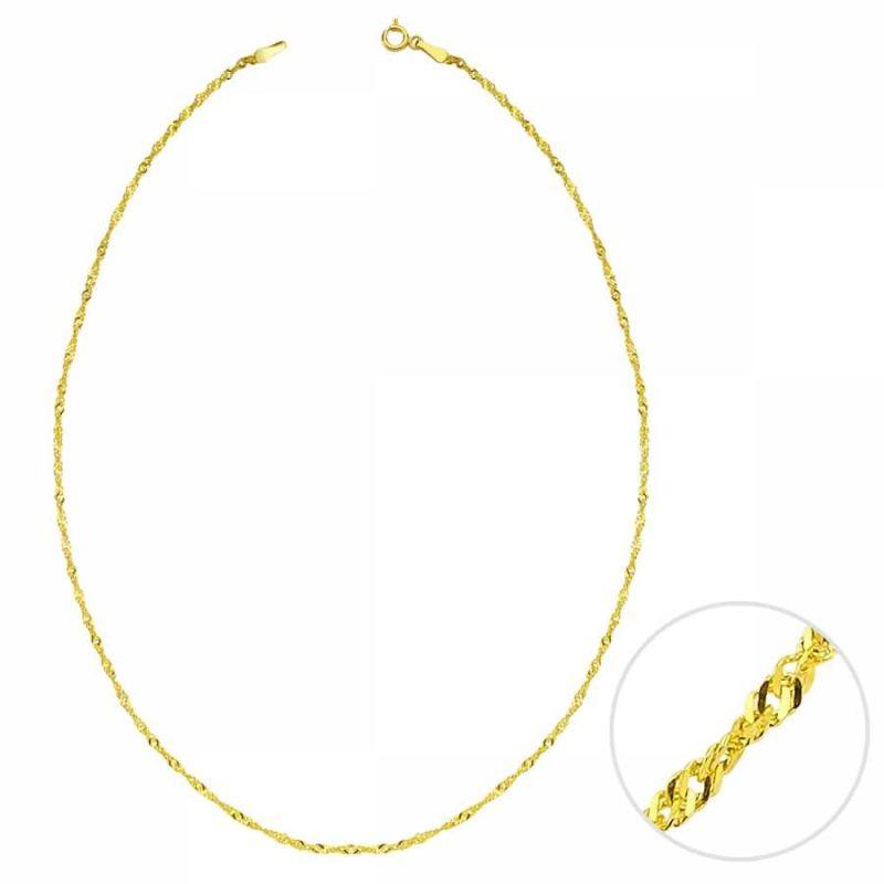 55 Cm Altın Singapur Zincir 1,40mm