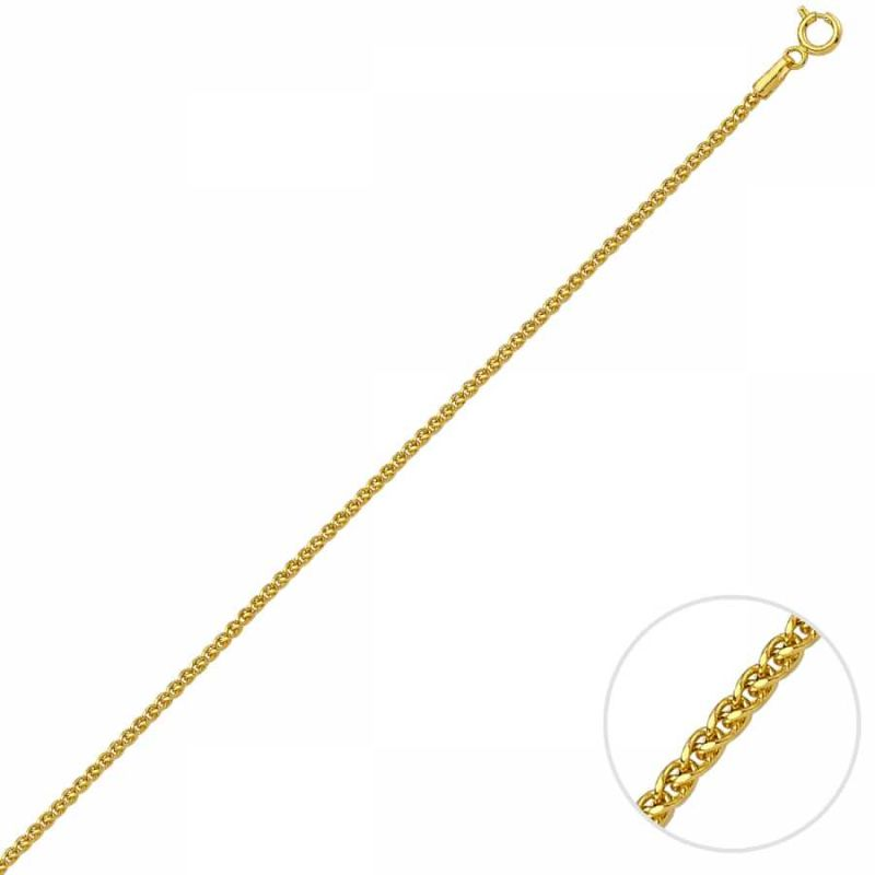60 Cm Altın Spiga Traşlı Zincir