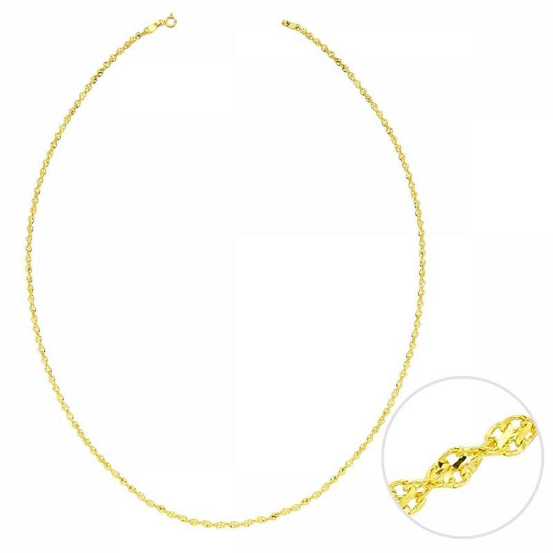 55 Cm Altın Yeni Singapur Dorica Zincir 2,90 mm
