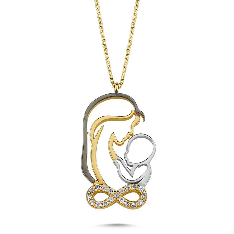 Altın Anne&Bebek Kolye Sonsuzluk Tasarım KLB-0371512