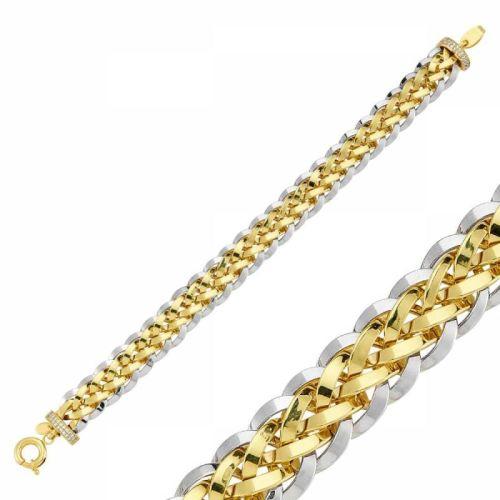 SembolGold - Altın Bileklik Burgu Tasarım Hallow Modeli SG42-57510