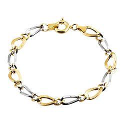 SembolGold - Altın Bileklik Hallow 14K Sarı Beyaz Gold