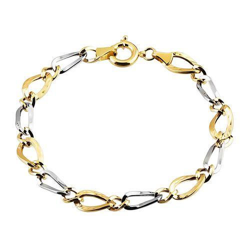 SembolGold - Altın Bileklik Hallow Tasarım 14K Sarı Beyaz Gold
