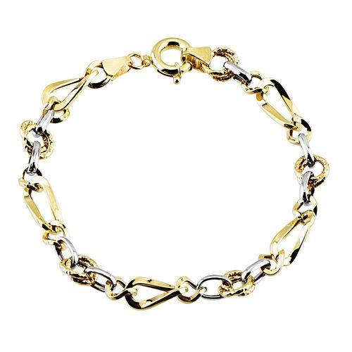 SembolGold - Altın Bileklik Hallow Tasarım 14K Sarı Beyaz Gold 4,00 Gr