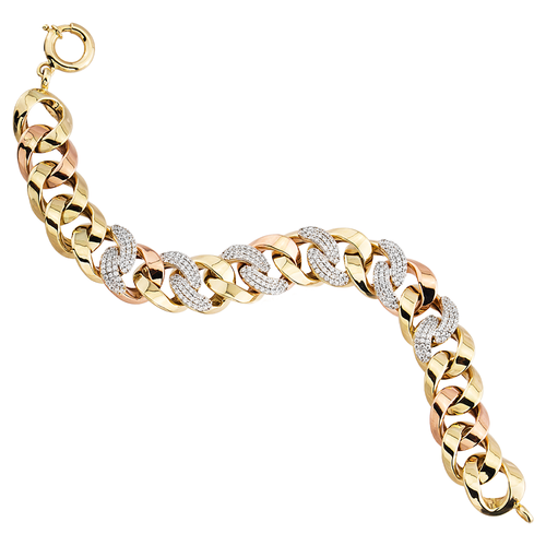 SembolGold - Altın Burgu Bileklik Taşlı 14K Gold