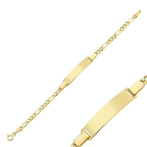 SembolGold - Altın Çocuk Bileklik 14 Ayar Lazerle İsim Yazılır SG42-6584