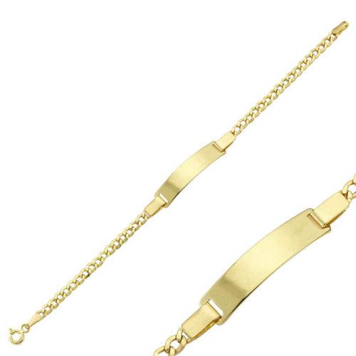 SembolGold - Altın Çocuk Bileklik 14 Ayar Lazerle İsim Yazılır SG42-6587