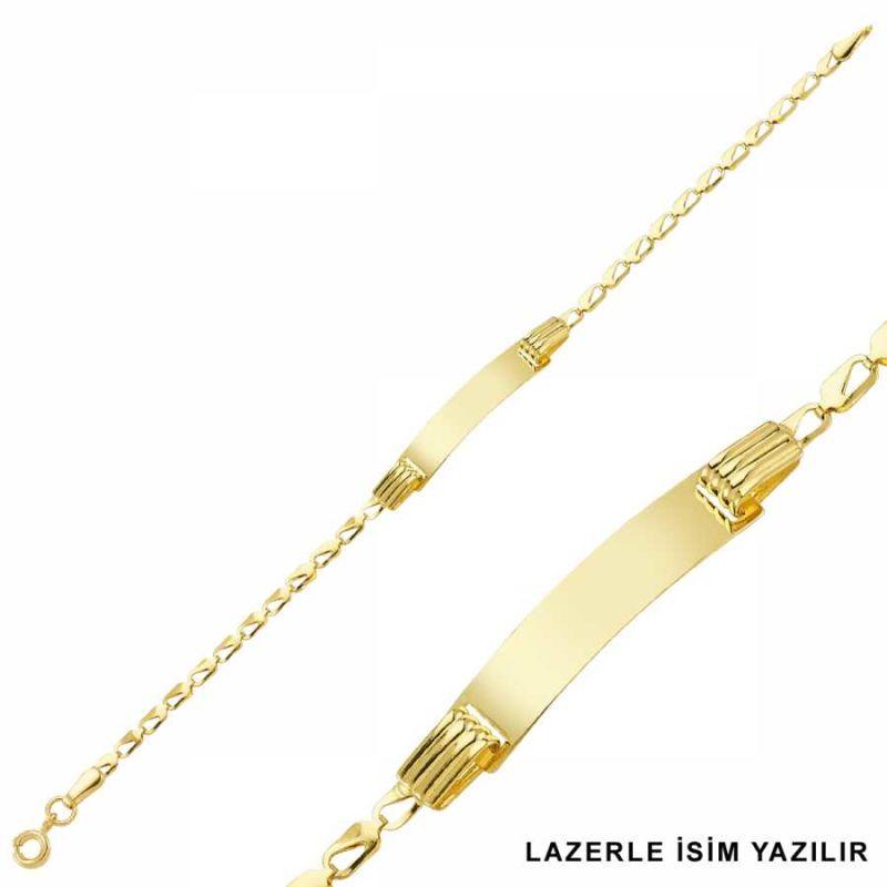 Altın Çocuk Bileklik Lazerle İsim Yazılır SG42-6581