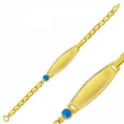 SembolGold - Altın Çocuk Bileklik Lazerle İsim Yazılır SG42-715760
