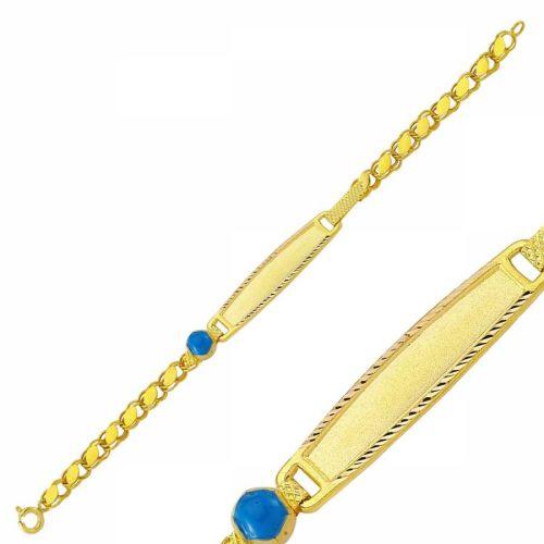 SembolGold - Altın Çocuk Bileklik Lazerle İsim Yazılır SG452-65755