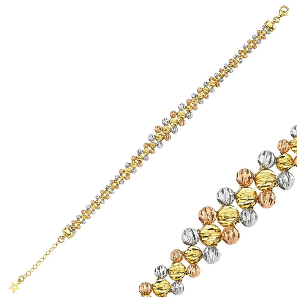 Altın Dorikalı Bileklik TriColor Tasarım BLK52-5626