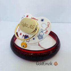 SembolGold - Altın Emzik Nazar Boncuklu Unixes Model EM-510