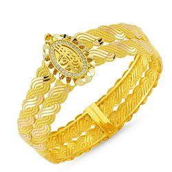 Altın Erzurum Kelepçe Oval Tuğralı - Thumbnail