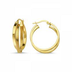 Altın Halka Küpe 14 Ayar İtaly 4,20 gr - Thumbnail