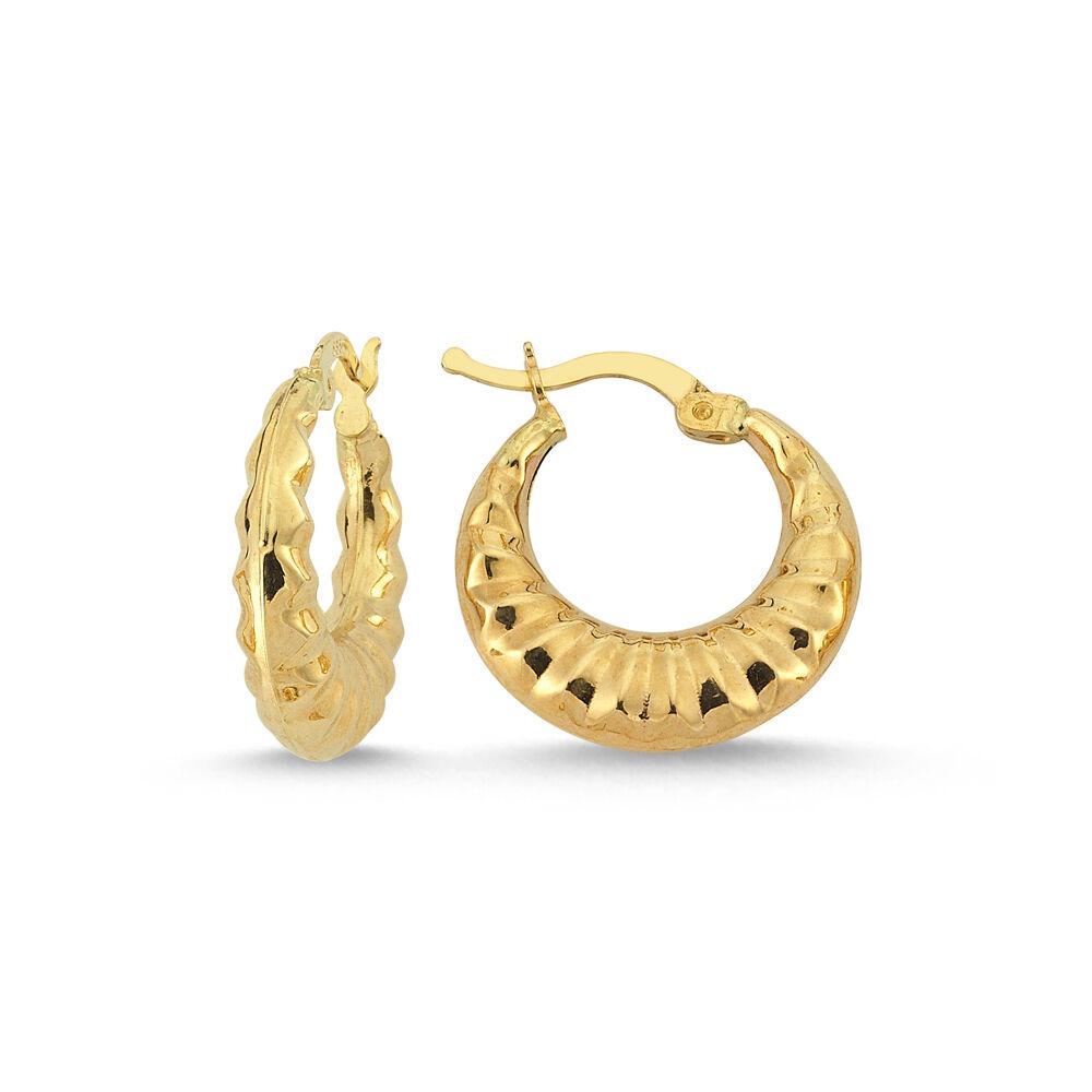 Altın Halka Küpe 1.9 cm 14 Ayar