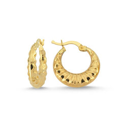 Altın Halka Küpe 1.9 cm 14 Ayar - Thumbnail