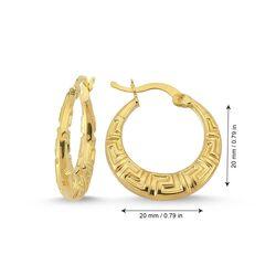 Altın Halka Küpe 2.0 cm 14 Ayar - Thumbnail