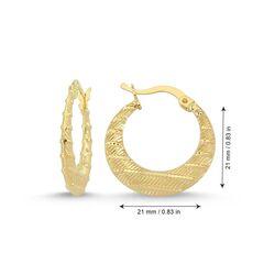 SembolGold - Altın Halka Küpe 2.1 cm 14 Ayar (1)