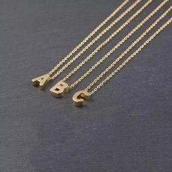 SembolGold - Altın B Harfli Taşlı Kolye (1)