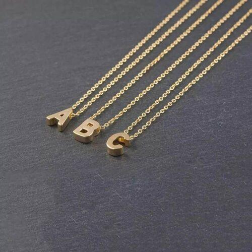 SembolGold - Altın L Harfli Taşsız Kolye (1)