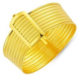 Altın Hasır Kelepçe Altı Sıralı - Thumbnail