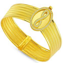 SembolGold - Altın Hasır Kelepçe Beş Sıralı Oval Sonsuzluk (1)
