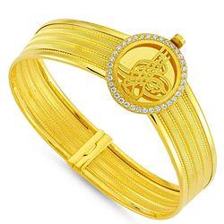 SembolGold - Altın Hasır Kelepçe Dört Sıralı Yuvarlak (1)