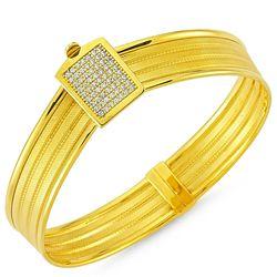Altın Hasır Kelepçe Üç Sıralı Kemer - Thumbnail