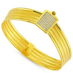 SembolGold - Altın Hasır Kelepçe Üç Sıralı Kemer (1)