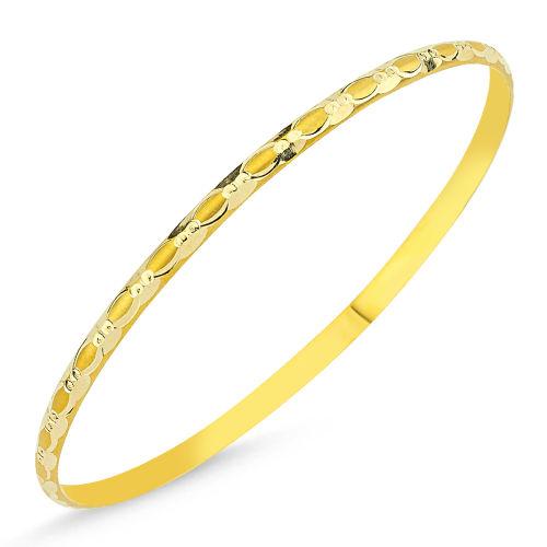 SembolGold - Altın Hediyelik Tel Bilezik Burgu Modeli BLZ5620658