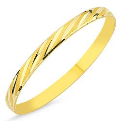 SembolGold - Altın Hediyelik Tel Bilezik Çizgili BLZ5620657