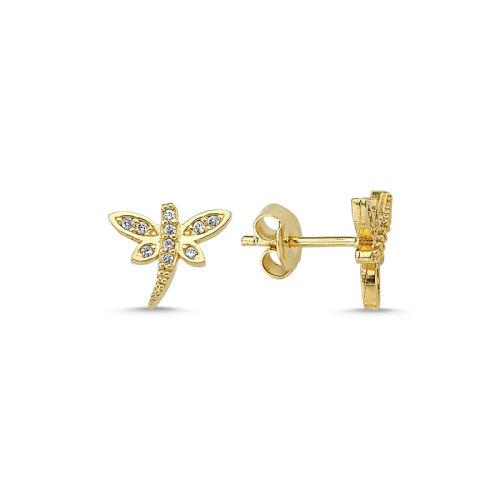 SembolGold - Altın İğne Küpe Yusufcuk Tasarım KPY-206
