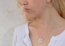 Altın İsimli Harf Kolye - Thumbnail